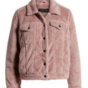 BLANKNYC  Cozy Teddy Faux Shearling Trucker Jacket